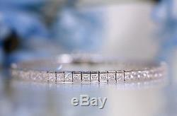 10.00 Ct Princess Cut Tennis Bracelet 14k Solid White Gold 7