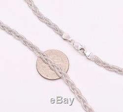 10 Diamond Cut Fox Braided Link Anklet Bracelet Chain Real 14K White Gold 4gr