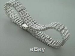 12.00 Carat Round Diamond Link Tennis Ladies Bracelet 14K White Gold Over 8.25