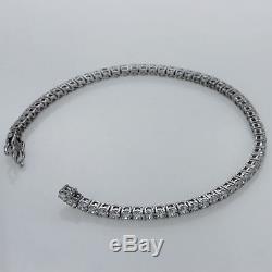 13.00ct Round Cut Diamond Tennis Bracelet Real 10k White Gold Women's Bracelet