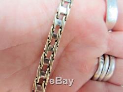 14K Yellow & White Gold Custom Made Link Bracelet Unisex Men's Woman