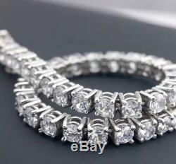 $14,000. 7.00 Ctw Genuine Diamond Round Cut Tennis Bracelet 14k White Gold
