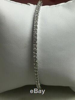 14k White Gold Round Diamond 2.19 Tcw Tennis Bracelet