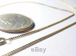 14kt Gold Yellow or White. 8MM Box Chain -13/16/18/20/24/30 inch withLOBSTER LOCK