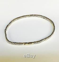14kt Solid Yellow and White Gold RLX Watch Style Link Bracelet 7.5 13 Grms 6 MM