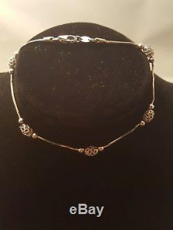 14kt White Gold Bracelet Italy