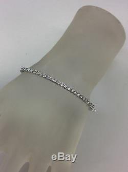 14kt White Gold Diamond (2.10tcw) Bangle Bracelet