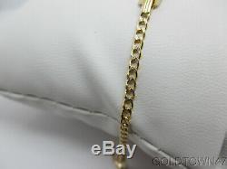 14kt Yellow +White Gold Baby ID Bracelet-Free Engraving-Free Shipping