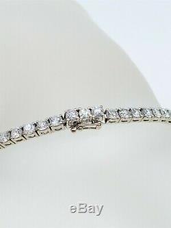 $15,000 Signed SONIA BITTON 6ct SI1 VS2 G Diamond 18k White Gold Tennis Bracelet