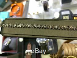 18K White Gold Diamond Tiffany Victoria Style Alt. Diamond Bracelet TDW 5.87ct