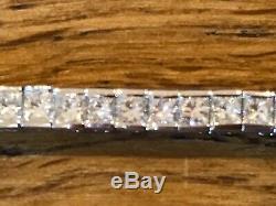 18 ct white gold 4ct diamond bracelet NPV £6,000 +