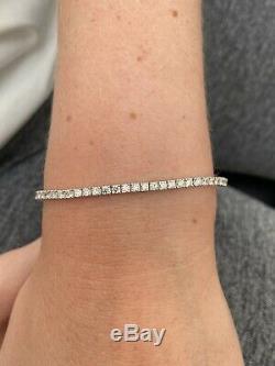 18ct White Gold 3.2ct Diamond Heavy Tennis Bracelet 18K 750