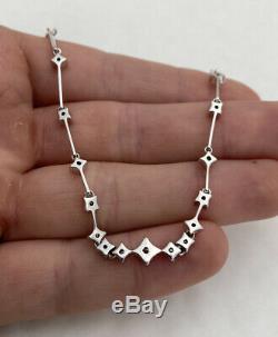 18ct White Gold 40 Point Diamond Heavy Bracelet 18K 750