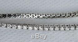 18k White Gold 1.52 ct Natural Diamond Tennis Bracelet VS2 / G