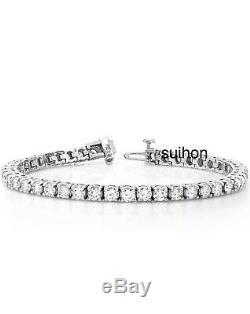 18k White Gold 3 Ct Tennis Bracelet 7 18 cm, 100% Real Natural Diamonds