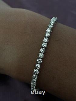 18k White Gold 5.00 ct F/VS Top Most Quality Round Diamond Tennis Bracelet
