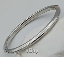 18k White Gold Bangle Bracelet
