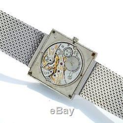 18k White Gold Vacheron Constantin Bracelet Dress Watch Ca1970s 7.25 Long
