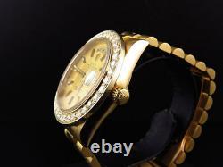18k Yellow Gold Mens 36 MM Rolex President Day-Date 18038 Diamond Bezel Watch