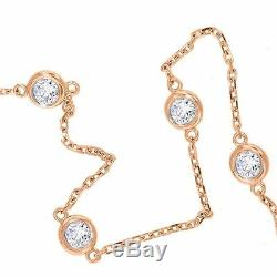 1 CT Anklet Ankle Bracelet Diamond By The Yard Station Man Made 14k Solid Gold