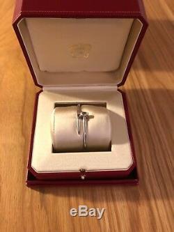 2018 Cartier Juste un Clou Nail Size 15 18K White Gold Bangle Bracelet with Box