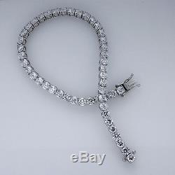20.00ct Round Cut Diamond Tennis Bracelet Real 10k White Gold Women's Bracelet