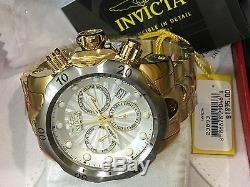 23893 Invicta Venom 53mm Swiss Parts Chronograph Silver Dial GP Bracelet Watch