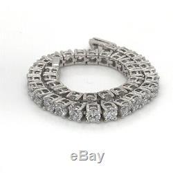 2Ct Round Cut White Diamond Women's Tennis Lovely Tennis Bracelet 14K Gold Over