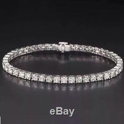 2.00 Carat Round Brilliant Cut Diamond 14k White Gold Over Tennis Bracelet 7