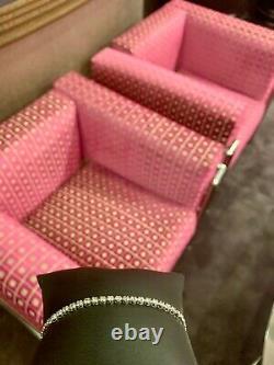 2.00 Ct Round HUGE Natural Real Diamond Tennis Bracelet 14K White Gold XMAS Gift