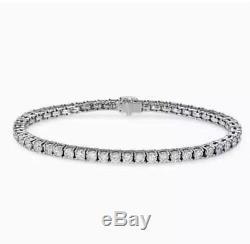 $2,200 3.00 Ctw Round Cut Natural Diamond 14k White Gold Diamond Tennis Bracelet