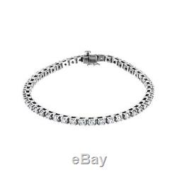 2.27ctw Round Brilliant Moissanite 14k White Gold Over Tennis Bracelet 7.25