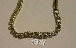 2 tcw Estate Tennis Natural Round Diamond Bracelet 10K White&Yellow Gold 7