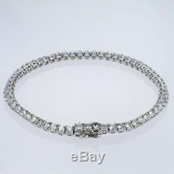 2ct F SI 18ct White Gold Diamond Tennis Bracelet