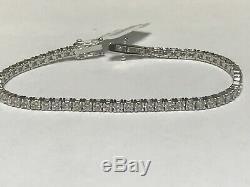 3.00 Carat Natural Diamond Tennis Bracelet G SI 14K White Gold 7'