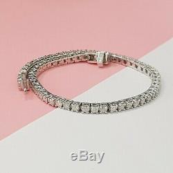 3.25ct round cut white gold 14k diamond tennis bracelet NOT ENHANCED