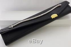 3.5 ct 18K White Gold Round Cut Brilliant Diamond Tennis Bracelet 6