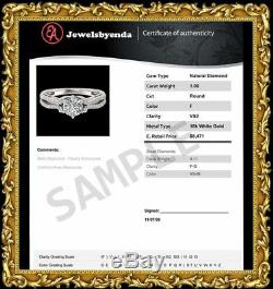 3 Ct. Tw Round Cut Diamond Real 14k White Gold Tennis Bracelet 8