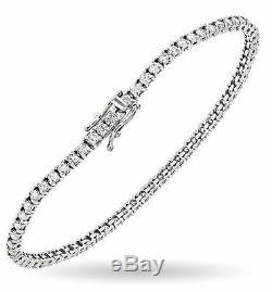 4.00 Carat Tennis Bracelet F-G/I1-I2 Natural Diamonds 14K White Gold