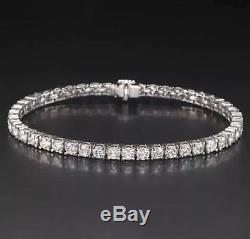 4.00 Ctw Brilliant Round Cut Natural Diamond Tennis Bracelet 14k White Gold