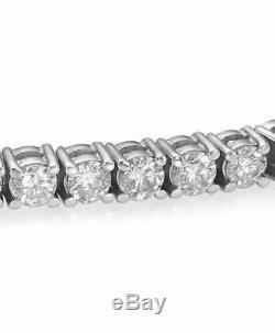 4.00 ct ROUND CUT DIAMOND TENNIS BRACELET 14K WHITE GOLD CERTIFIED E SI2