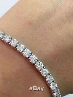 4.10ct Round Diamond Tennis Bracelet, White Gold -Lowest UK Price Guaranteed