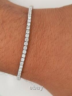 4 carat Round Brilliant Cut Diamond Tennis Bracelet Uk Hallmark White Gold