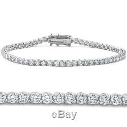 4ct Diamond Tennis Bracelet 14K White Gold 7