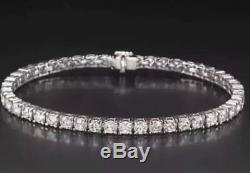 $5200 6.00 Ctw Round Cut Genuine Diamond Tennis Bracelet 14k White Gold