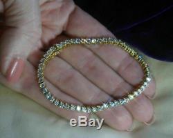 5.00 Carat Round Cut VVS1 Diamond Tennis Ladies Bracelet 14k Real Yellow Gold