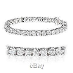 5.00 Carat Round Diamond Claw Set Tennis Bracelet Crafted in 18k White Gold