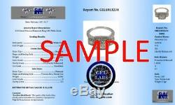 5.00 ct round cut white gold 14k diamond tennis bracelet CERTIFIED NOT ENHANCED