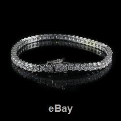 5.00ct Princess Cut Diamond 14k Solid White Gold Tennis Bracelet Free Shipping
