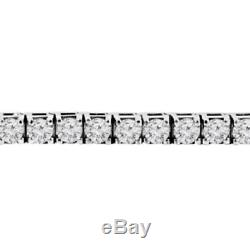 6.20Ct Round-Cut D/VVS1 Diamonds Bracelet Tennis 14k White Gold Over Long 7.25